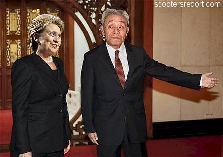 Hillary in China