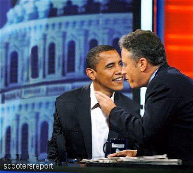 Obama and John Stewart