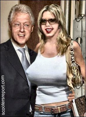 Bill Clinton with lottery winner