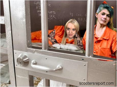 Lindsay in jail