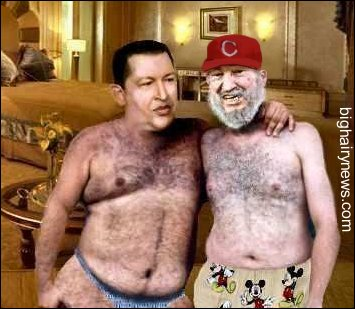Hugo Chavez and Fidel Castro