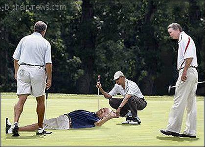Obama and Boehner golf