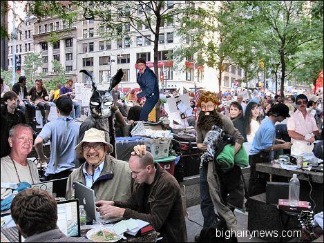 Zuccotti Park protesters