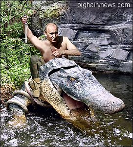 Putin superhero