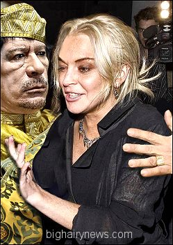 Gaddafi and Lohan