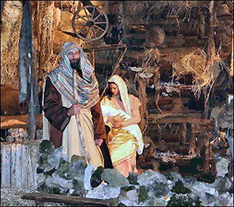 Joseph Mary and Child