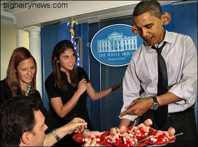 Obama serves abortion cake