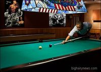 Obama playing pool