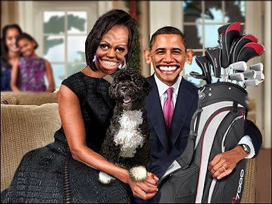 Obama Christmas photo