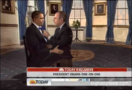 Obama and Lauer