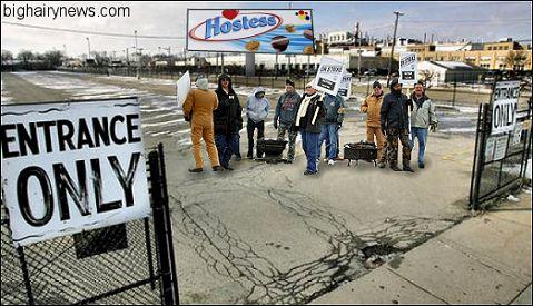 Union workers strike Hostess