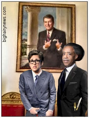 Maddow and Sharpton at the White House