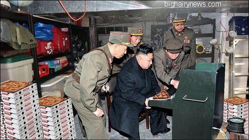 Kim Jong-Un in underground bunker