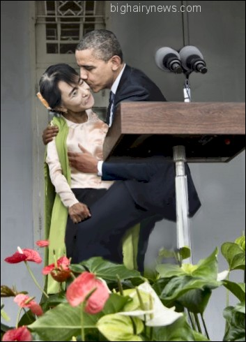 Obama and Aung San Suu Kyi