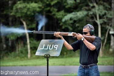 Obama shooting gun 1