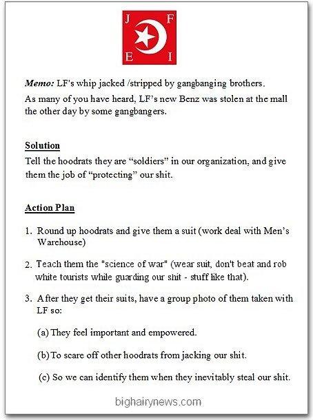 Nation Of Islam memo