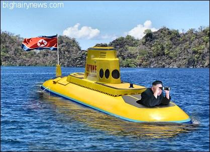 Kim Jong-Un on submarine
