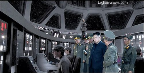 Kim Jong-Un in death star