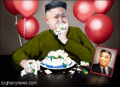Kim Jong-Un eats cake