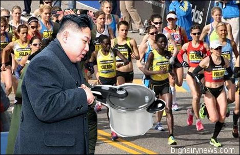 Kim Jong-Un planting bomb