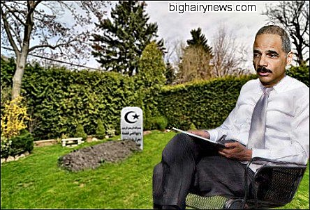 Eric Holder In His Backyard