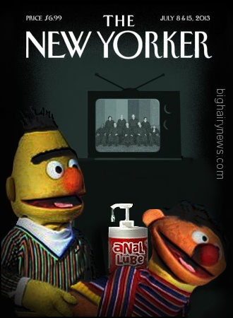 Image result for bert and ernie new york cover gay marriage