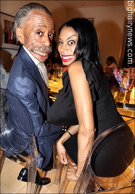Sharpton and girlfriend