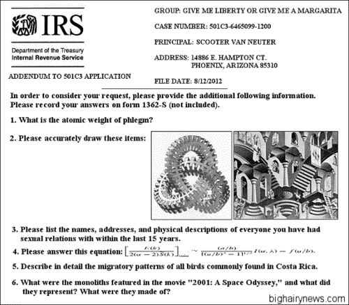 IRS questions