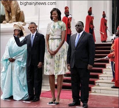 Obamas in Senegal