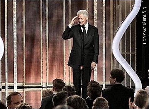 Billl Clinton at Golden Globes