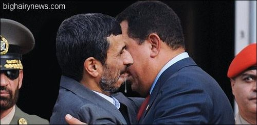 Ahmadinejad and Chavez make out