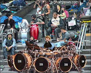 Zuccotti Park drum circle