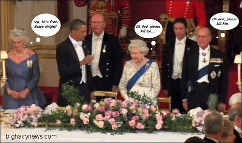 Barack Obama gives a toast