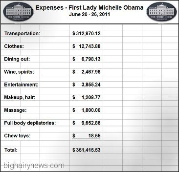 Michelle Obama expenses