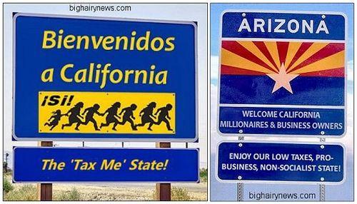 Welcome to California Welcome to Arizona