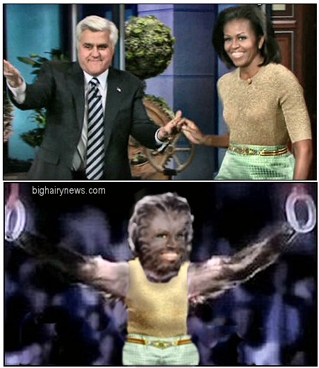 Michelle Obama  and chimp commercial
