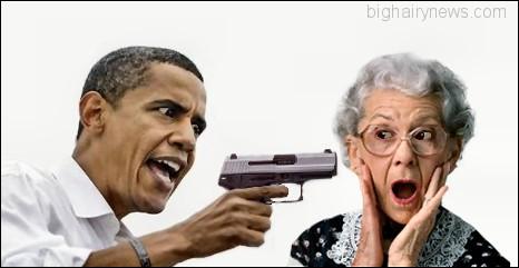 Obama with gun