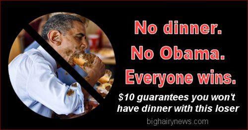 No dinner No Obama