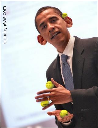 Obama does tricks