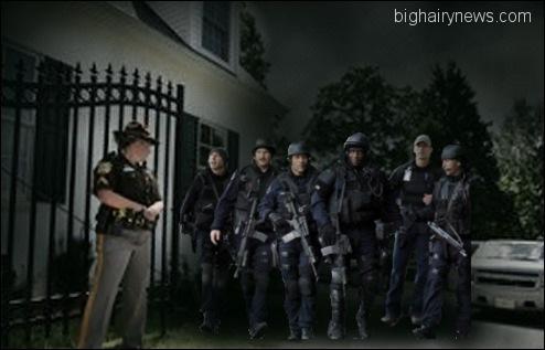Police raid Biden home