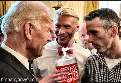 Biden, Miller, Savage, Anal Lube