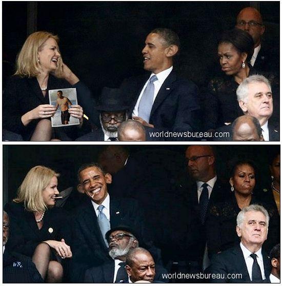 Thorning and Obama
