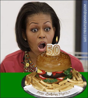 Michelle Obama birthday cake