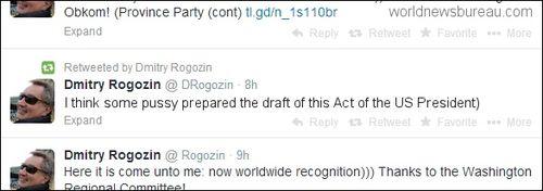 Rogozin Obama Tweet