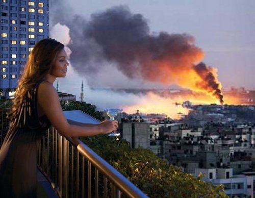 Cheryl at Gaza 2