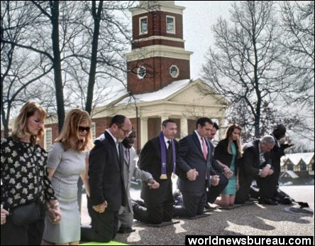 Pastors pray for Eric Holders passing