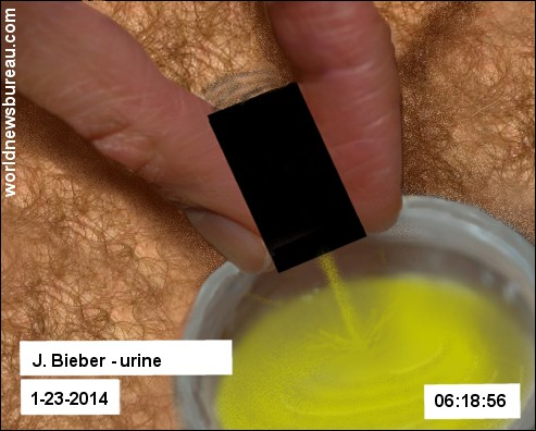 Bieber jail urine test