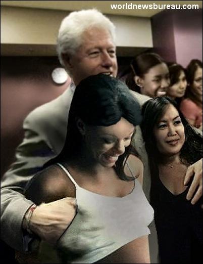 Bill Clinton visits Immigrants