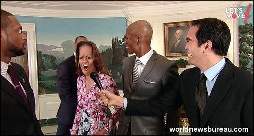 Michelle Obama howls