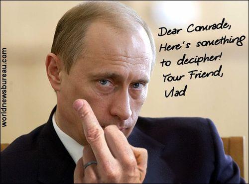 Putin greets Obama
